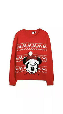 Primark Girls Disney Minnie Mouse Christmas Jumper Age 5 - 6 Years