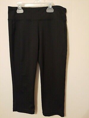 Old Navy Black Polyester Spandex Active Leggings Girls Size Large 10/12