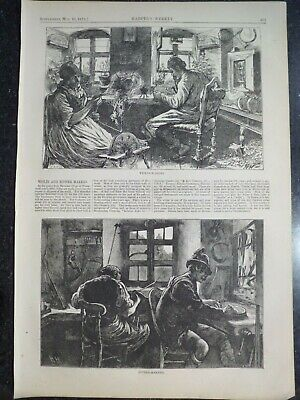 Violin And Zither Makers Bavrian Village Mittenwald Germany Harper's Weekly 1873
