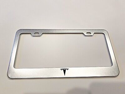 500e Fiat Crossover Stainless Steel License Plate Frame Rust Free W// Bolt Caps