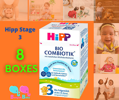 HiPP Stage 3 Germany Bio Combiotic Infant Formula 4 Boxes 600g Free Shipping