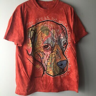 THE MOUNTAIN DOGS SPEAK DEAN RUSSO ANIMAL RESCUE ADORABLE STARE T SHIRT S-5XL