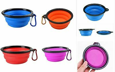 JOB LOT - 57 X Silicone Collapsable Pet Feeding Bowls - Assorted Colours