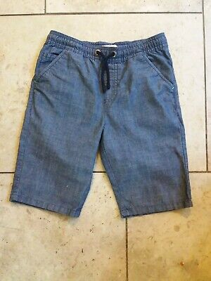 Boys blue denim lightwieght shorts age 8. Blue zoo. Perfect condition
