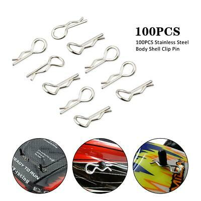 100PCS Stainless Steel Body Shell Clips Pin Or RC 1//16 Model Car HSP Lz
