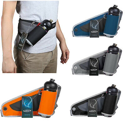 Men Sports Waist Bag Belt Fanny Pack Hiking Running Bum Bag Water Bottle Holder