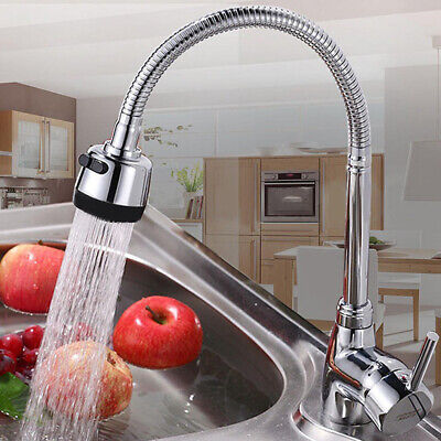 Kitchen Basin Hot and Cold Water  Faucet with Pull Down Single Hole Sprayer