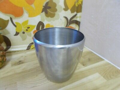 Vintage gense 18-8  stainless steel sweden bowl 14 cm tall, 14 cm diameter