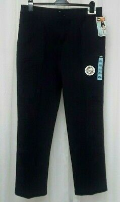 NWT women's Lee Relaxed Fit Straight Leg 4 Pocket Black Trousers Pants size 18L