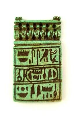Hieroglyph Faience Egyptian Antique Amulet Rare Figurine Amazing Necklace Chain