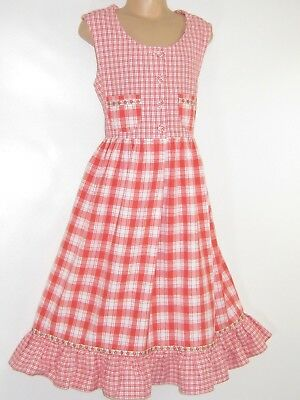 Laura Ashley Vintage Check Cotton Folklore Cottage Style Summer Dress,7 Yrs