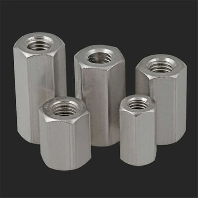 M5-M24 A2 304 Metric Stainless Steel Threaded Rod Coupling Nuts