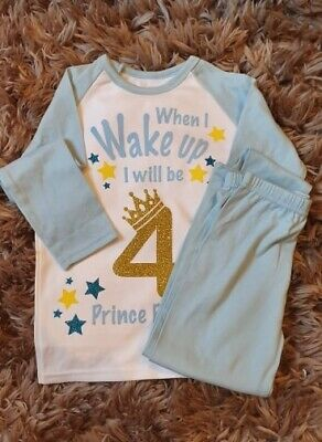 Personalised When I Wake Up I'll Be Pyjamas Children's Birthday Pjs Pyjamas