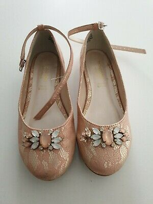 monsoon girls shoes size 12 beautiful sparkly party shoes