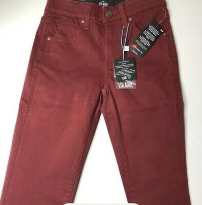 Lularoe Wine Colored Denim Jeans size 44 Includes Free Leggings NWT