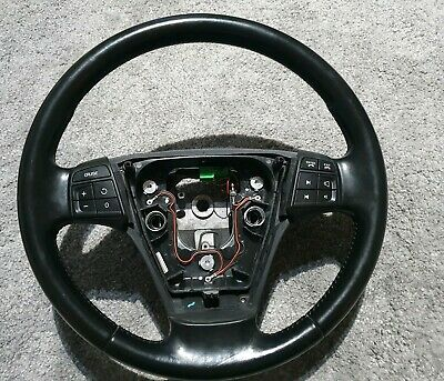 Volvo S40 V50 C30 C70 Leather Steering Wheel And Sat Nav Cruise Phone Controls