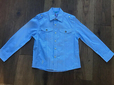 River Island Boys Long Sleeve Stripe Shirt Age 3 Immaculate Condition Worn Once
