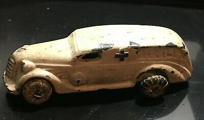 Vintage Antique Manoil Barclay Military WW1 Lead Toy Soldier Medic Car Cast Iron