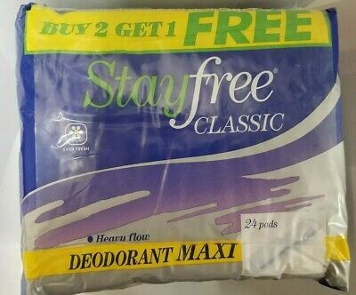 Stayfree Classic Deordorant Maxi 24 Pads Vintage, New movie prop