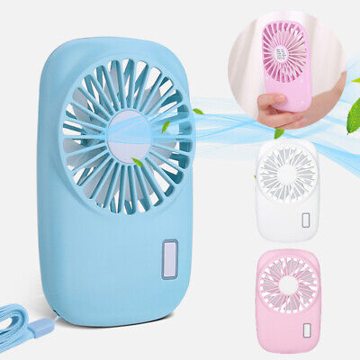 USB Mini Portable USB Rechargeable Hand Held Air Conditioner Cooler Cooling Fan