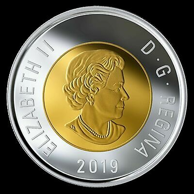 2019 Canada Classic design Toonie $2 proof finish steel - from set - coin only