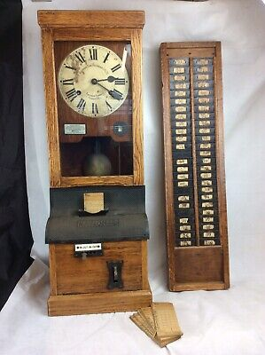 National time recorder clock clocking in factory clock With Ticket Board