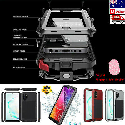 Metal Aluminum Heavy Duty Case Cover for Samsung Note 10 Plus S10 S9 S8 Note 9 8