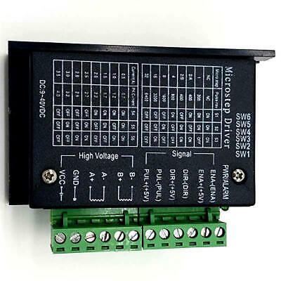 4A 9~42V Micro-Step CNC Single Axis TB6600 Stepper Motor Driver Controller New