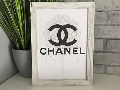 chanel fashion art picture poster decor Fancy kitchen bedroom dressing room A4