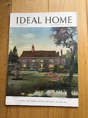 Vintage Ideal Home Magazine. October 1949. Rare Collectors Item
