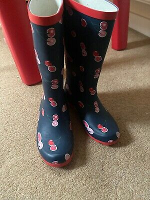 M&S Girls Boots Wellies Uk Size 1 New With Tag