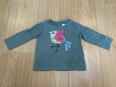 Cute Long-Sleeved Bird Top from NEXT - Age 9-12 Months