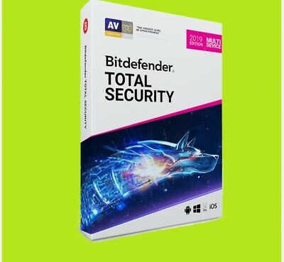 Bitdefender Total Security 2019 - 5 Devices - 6 Months - Key Code - Region Free