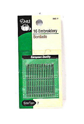 Dritz Embroidery Needles Size 7
