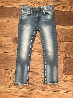Boys H&M Skinny Blue Jeans Age 5-6 Excellent Used Condition