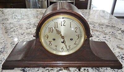 Seth Thomas #74 Mantel Clock 113 Movement Westminster Chime Vtg Antique RUNS!