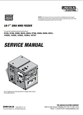 Lincoln Ln-7  Gma Wire Feeder Service Manual