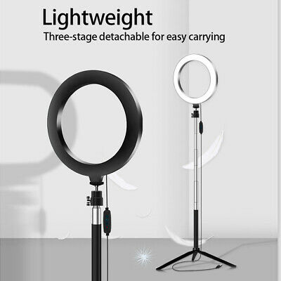 5-in-1 LED Ring Light Dimmable Tripod For YouTube Video Selfie w/ Remote Control