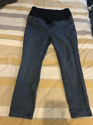 """New Look Over The Bump Maternity Jeggings Jeans Size 14 26"""" Leg Petite."""