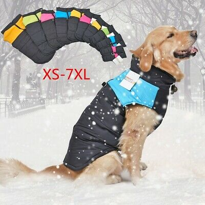 10 Pet Small Large Big Dog Winter Waterproof Warm Clothes Coats Vest Jacket cute
