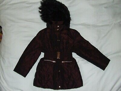 Girls Ted Baker brown shiny coat age 4-5 years