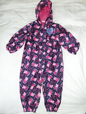 Girls Peppa Pig pink all in one shower suit age 3-4 years Nutmeg