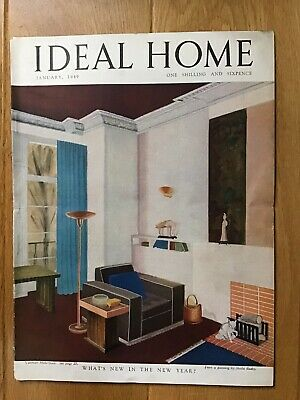 Vintage Ideal Home Magazine. January 1949. Rare Collectors Item