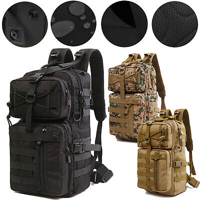 30L Military Tactical Army Backpack Rucksack Molle Waterproof 3 Day Assault Pack