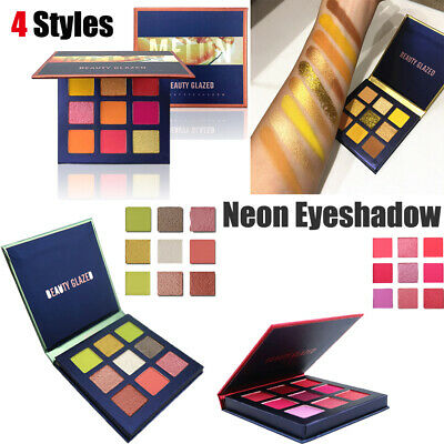 9 Colors Neon Eyeshadow Matte Mineral  Shimmer Shining Eyeshadow Palette