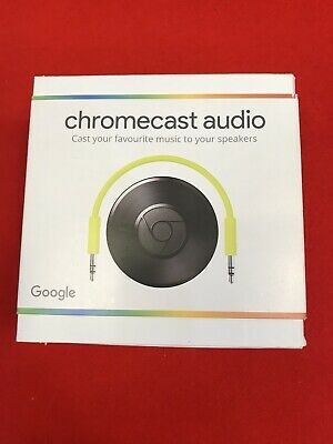 Google Chromecast Audio 2nd Generation Media Streamer Black - BRAND NEW SEALED!!