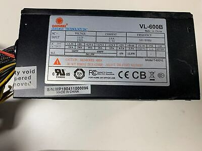 PS1540 COOLMAX CXI-600B 600W Power Supply TESTED