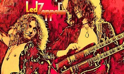"""Led Zeppelin Poster Art 20x30 Large """"Dancing Days"""" Robert Plant Jimmy Page"""