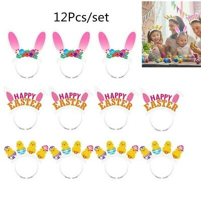 Amosfun 12PCS Easter Headbands Headband Party Accessory Headwear for Kids Babies