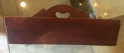 Antique knife tray wooden mahogany cutlery kitchen primitive box tote 19th cent